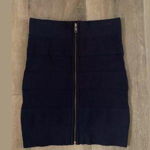 French connection blue bandage skirt Sz 4